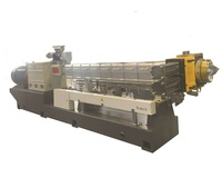 PET recycling flakes twin screw extruder and pelletizing machine