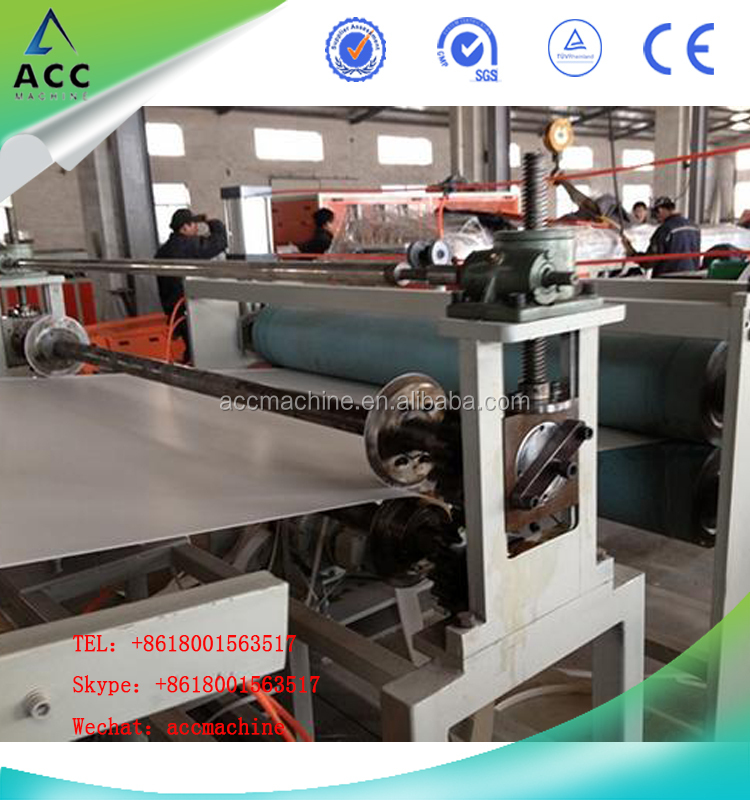 plastic PVC cling / stretch film extruder making machine production line price SJZ80