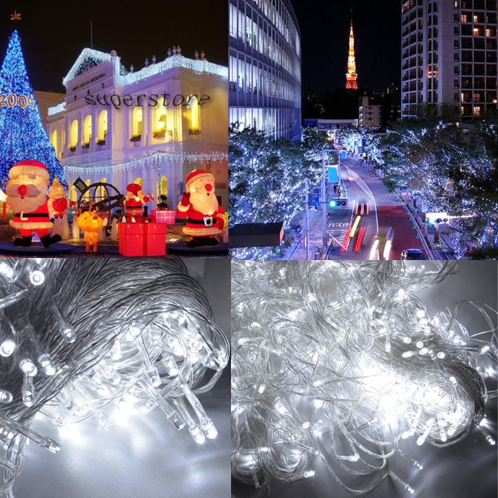 Backyard Twinkle Lights: New 100M 600 LED White Party LED Christmas Lights Outdoor