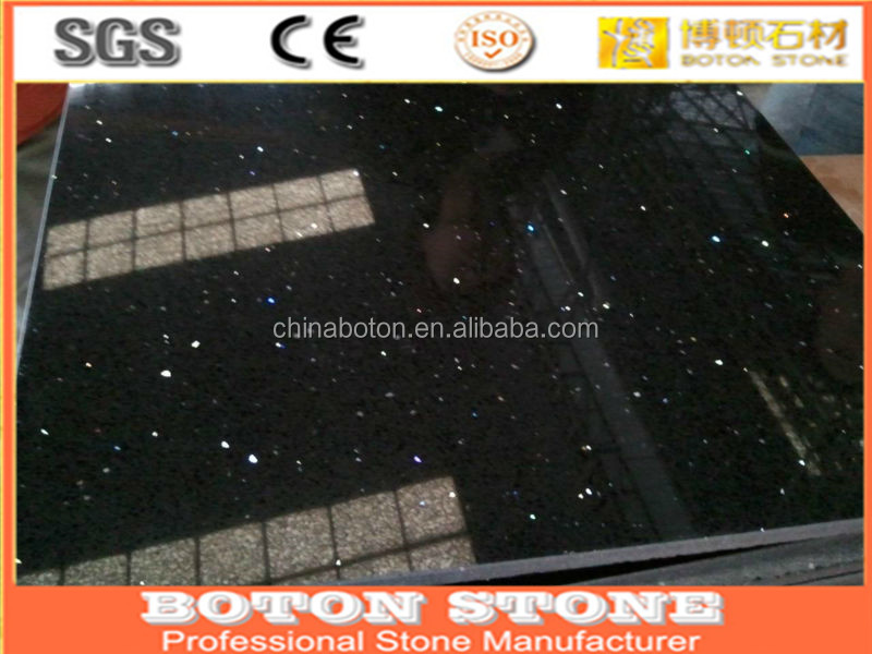 White Galaxy Quartz Engineered Red Stone Floor Tiles Black Starlight With Price