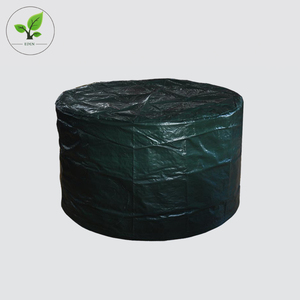 Hot sale waterproof PE green outdoor furniture cover for round table