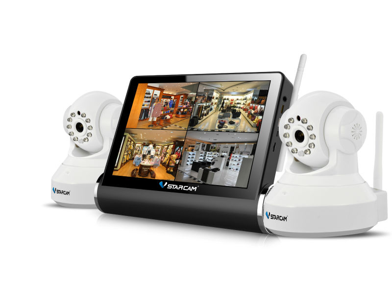 "VStarcam Support 4 CH IP Cam with NVS-K200 7""Capacitive Touch Screen SD Card Portable DVR Digital Video Recorder"