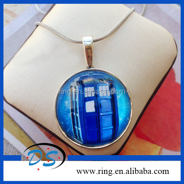 Doctor Who Necklace Tardis Dr who art pendant jewelry