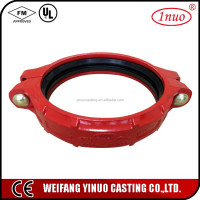 cast iron material sand casting pipe flexible coupling