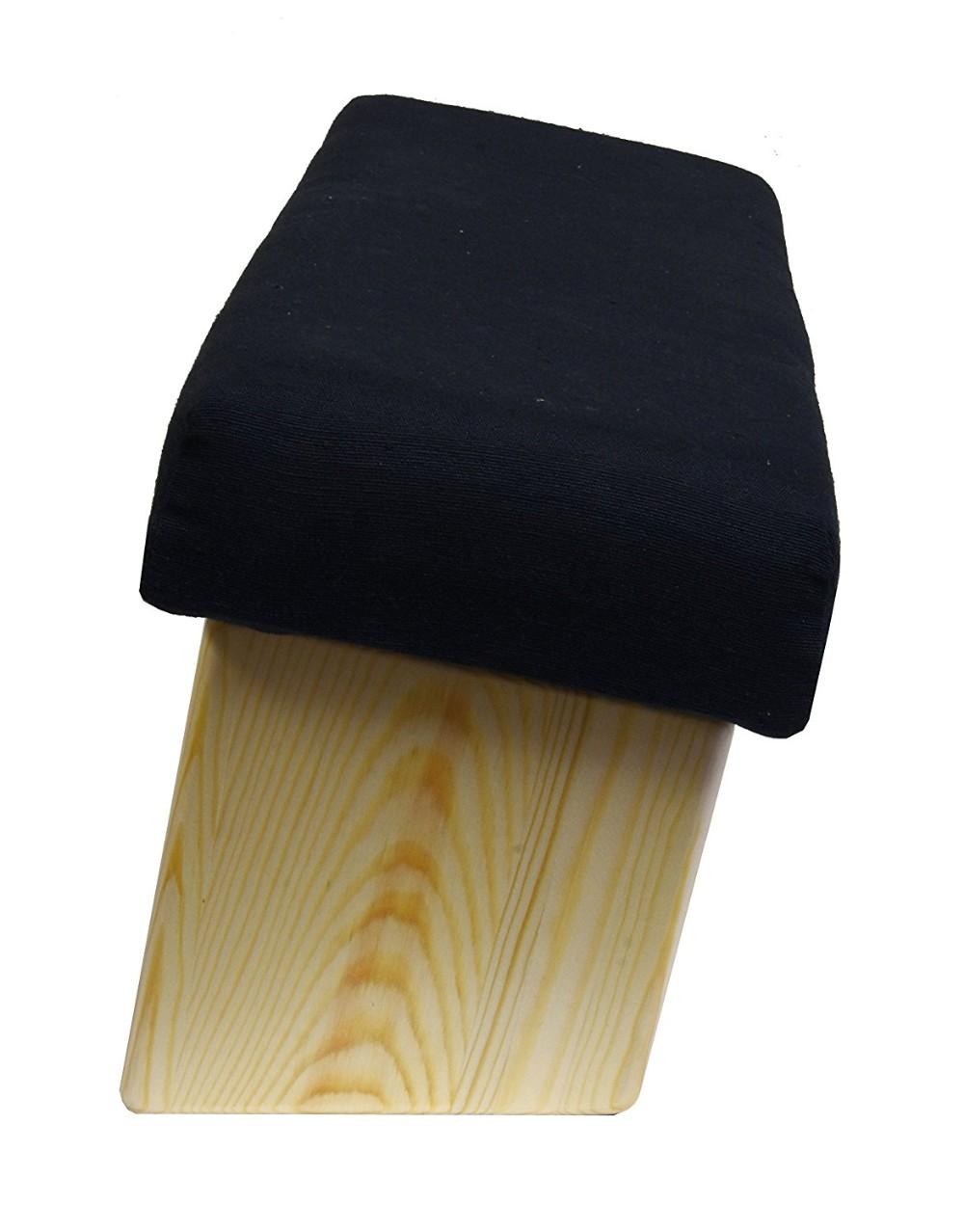 Portable Wood Yoga Seiza Kneeling Meditation Bench Folding Stool Padded Cushion Angled Seat