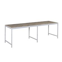 Fashion designs wholesale stainless steel dining table and chair sets