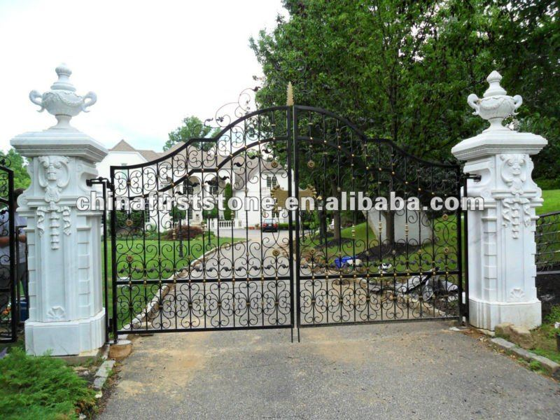 Marble Stone Gate Pillar Design Suppliers And Manufacturers At Alibaba