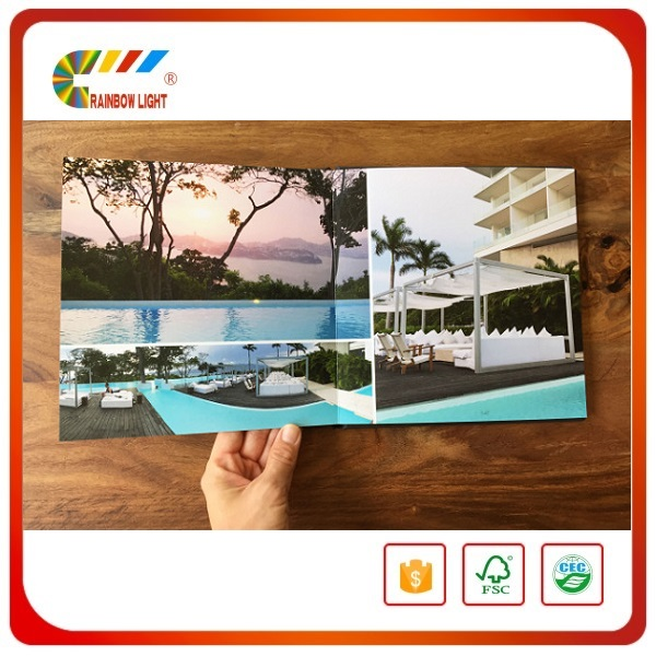 Excellent quality best price glossy film lamination sewing binding hard cover full color photo book