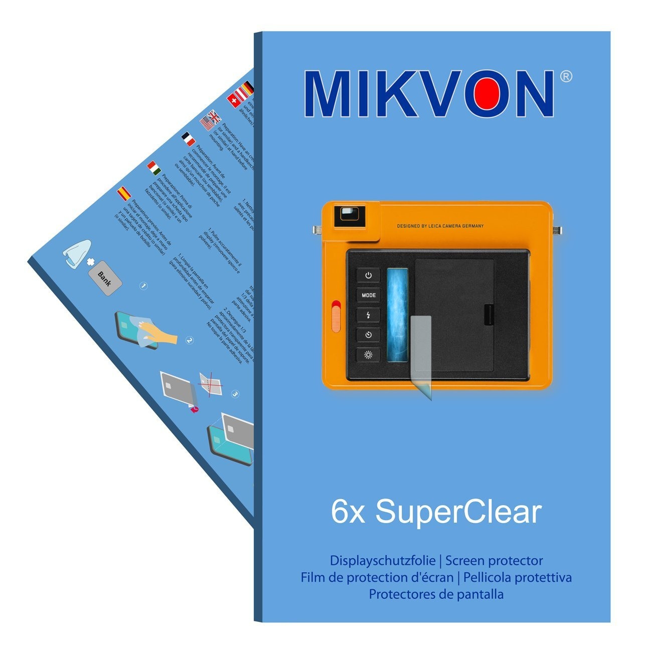 6x Mikvon films screen protector SuperClear for Leica Sofort - transparent - Made in Germany