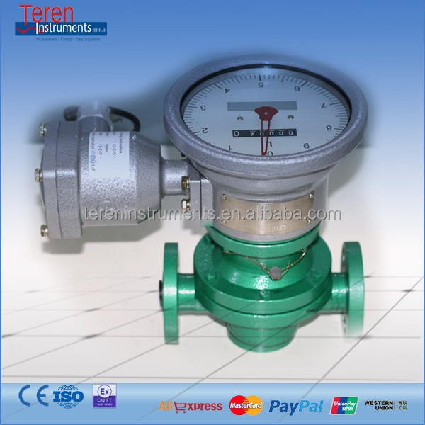 Mechanical Oval gear Flow meter PD meter diesel gasoline