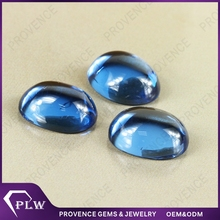 Synthetic Blue Oval Cabochon Flat Back Spinel Gemstones