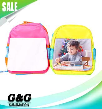 2c2a7d385437 Custom Kids School Bag Blank Sublimation School Backpack - Buy ...
