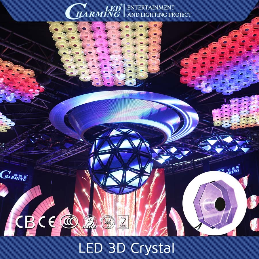 aluminum alloy material led crystal celling lights for decoration