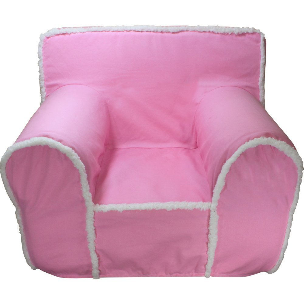 CUB CHAIRS Small Pink Sherpa Chair Cover For Foam Childrenu0027s Chair