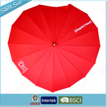 16 Ribs Heart Shaped Umbrella