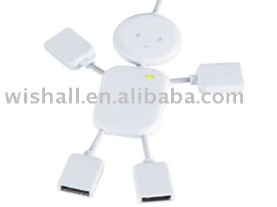 cartoon shaped usb 4 port hub