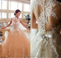robe de mariage Custom Made Bridal Gowns Wedding Dresses Lace vestido de noiva Luxury Long 2017 Wedding Dresses WW840