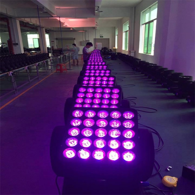 Stage light 4IN1 RGBW 5*5 Pixel matrix 25PCS 10W beam led moving head