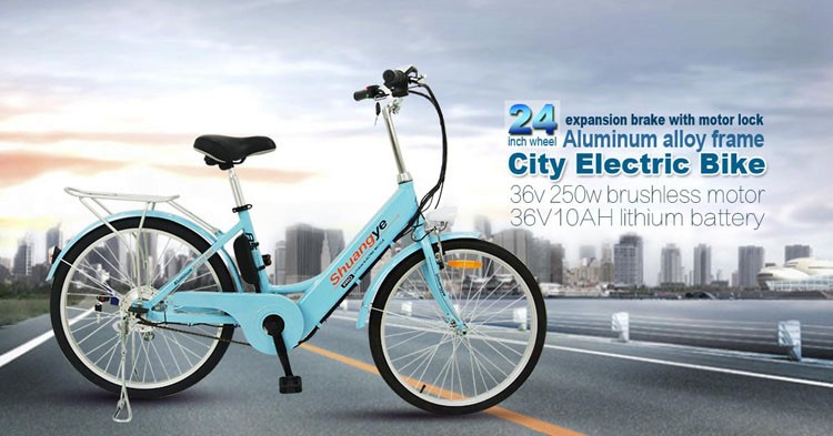 "24"" 26"" 36v hidden battery electric city e bike"