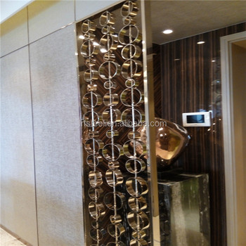 Home Decorative Laser Cut Metal Screenroom Divider Screen Partition