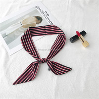 2017 Red Stripe Soft Women Summer Cooling Head Neck Scarf 100% Polyester 90 x 5cm