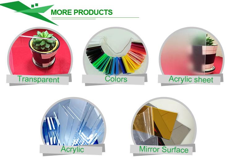 Clear/Color/Transparent Acrylic Plexi glass