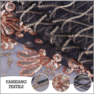 Fashion Embroidery Design African Tulle Lace Beaded Lace Sequin Fabric,Sequin