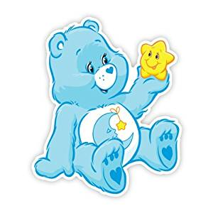 Walls 360 Peel & Stick Fabric Wall Decals: Care Bears Bedtime Bear Holding a Star (20 in x 24 in)