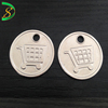 Custom round silver metal plate clothes logo labels sewing tags