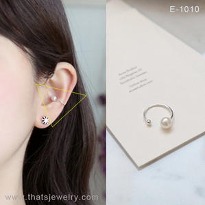 Simple Style Ear Cuff Graceful Pearl No Piercing Ear Wrap Earring 2018 Trend Thatsjewelry E-1010