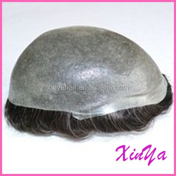 4inch Natural Straight Indian remy hair full PU cheap toupee for men