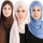 Big Large Solid Color Women Shawl Hijab New Designs Plain Colors Scarf Hijab