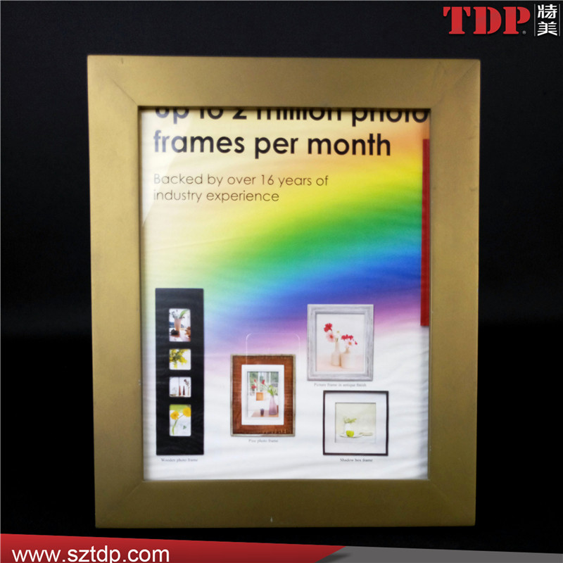 Wholesale A5 Gold Rectangle Plastic Acrylic Picture Frame