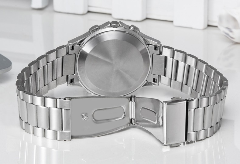 Arabic muslim prayer qibla compass watch stainless steel azan wrist watch