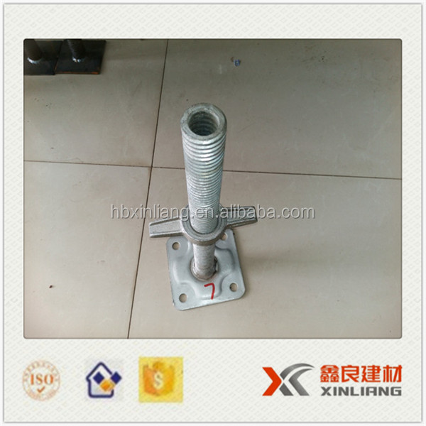 Galvanized adjustable scaffolding screw jack