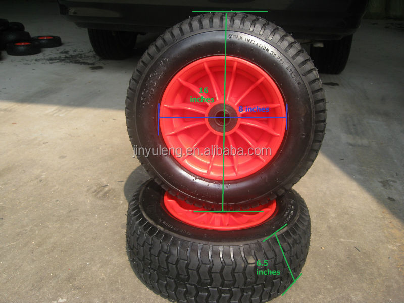 wheel barrow wheel 6.00-6/6.50-6/5.00-6 use for Golf carts, lawn car, trailer,motor barrow wheel