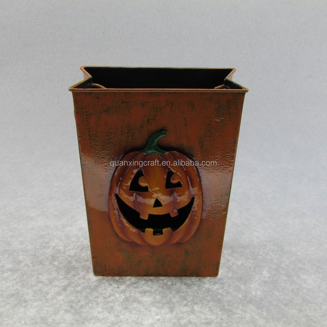 metal pumpkin lantern halloween decorations - Metal Halloween Decorations