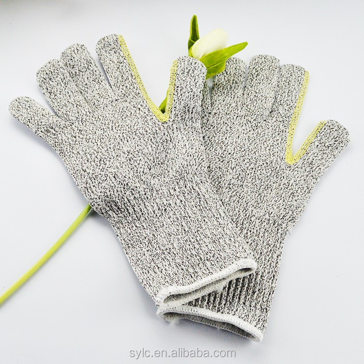 wear-resisting knitted cotton gloves for labor protecting used in building