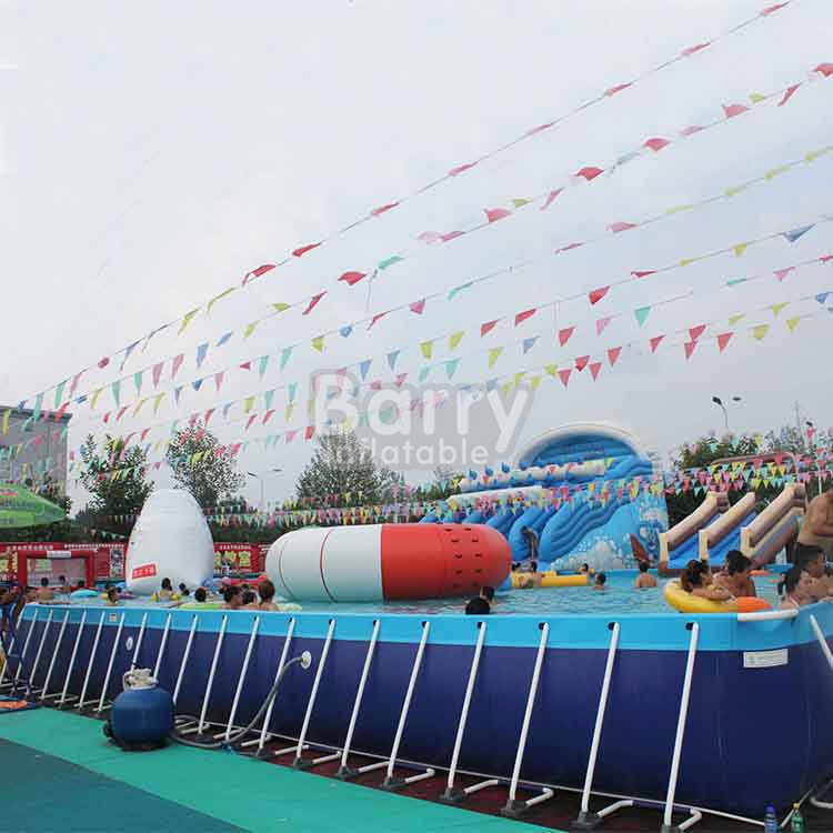 High Quality Above Ground Swimming Pool with Decks,Mobile rectangular Metal Frame Pool,Portable PVC swiming pool for adults kids