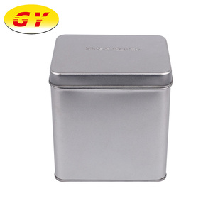 Custom Silver Rectangular Food Packaging Container China Tea Can Box
