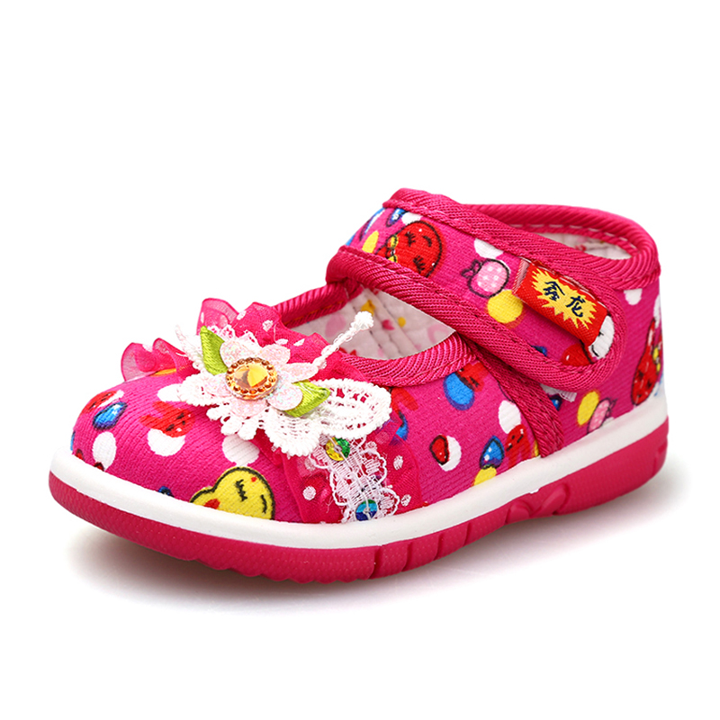 9e50216a472b 2015 Brand New Kids Sandals Girls Shoes With New Models Cute Princess  Flowers Velcro Canvas Children s Shoes Wholesale Free Ship