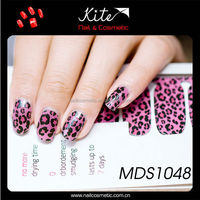 pure glitter black and white color beauty nail sticker nail wraps