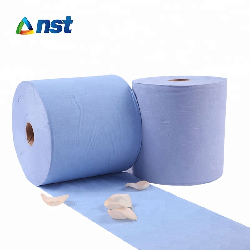 High quality blue roll hand towel tissue paper