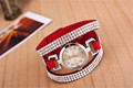 10colors Ebay Hot High Quality Full Rhinestone Adjustable Women Bracelet Bangle Lady Charm Vintage Wristwatch Deluxe