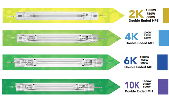 Hadroponic 1000W Double Ended Metal Halide 4K Lamps
