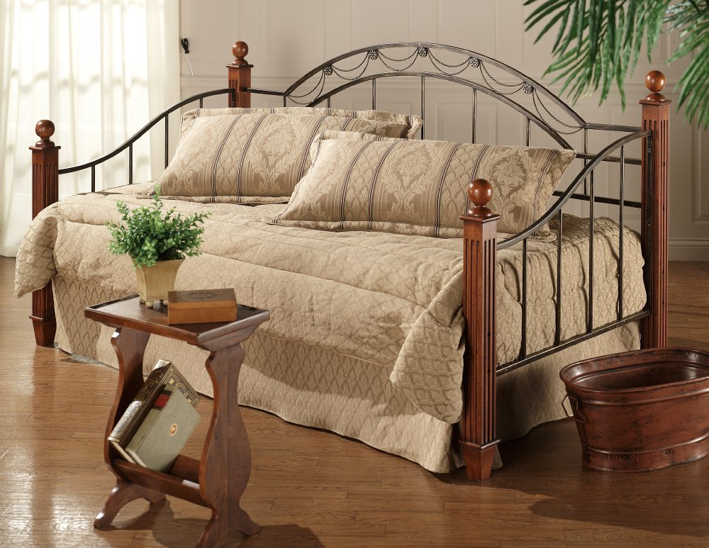 Hillsdale Camelot Wood Daybed in Black Gold