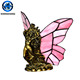 Tiffany Style small imitation stained glass animal table lamps for living room