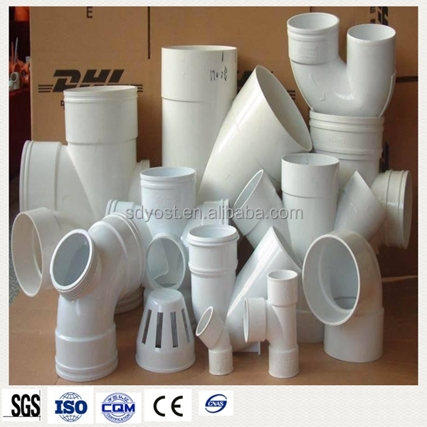 various types of upvc water sewer pipe <strong>fittings</strong>