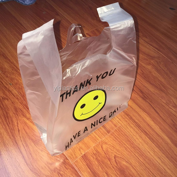 Professional supplier transparent or colorful cheap shopping plastic polap T Shirt Plastic Packaging Bag