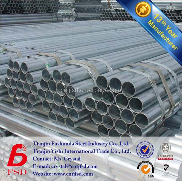 8 inch schedule 40 round electro galvanized metal pipe for fence posts